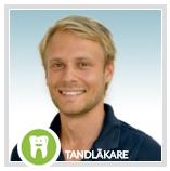 Tandläkare Gustav Norbäck i TV-rutan