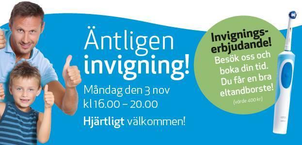 Välkommen till invigningen av din nya fina klinik i Södertälje!
